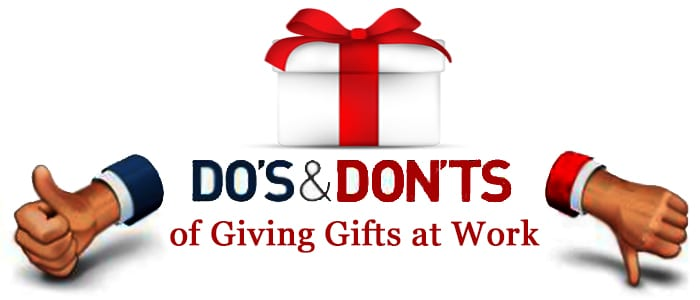 The dos and donts of giving gifts at work tweak your biz theres simply one basic rule of gift giving which mandates that your gift must not be the product of an inevitable panic stricken jump and rush to amazon negle Images