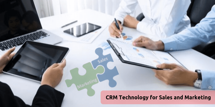 CRM technology for sales and marketing