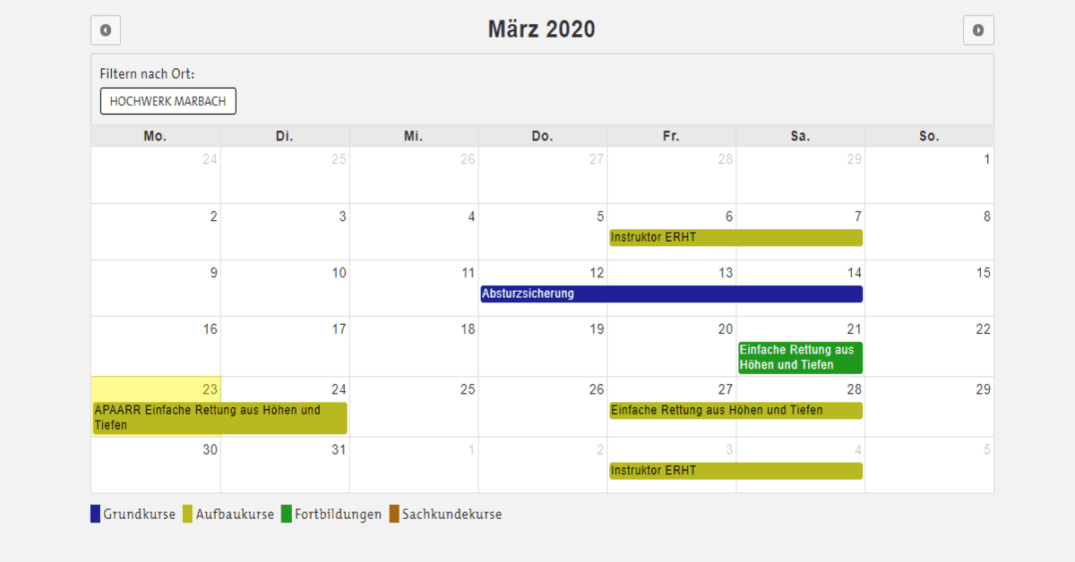 Bornack - Calendar for appointments
