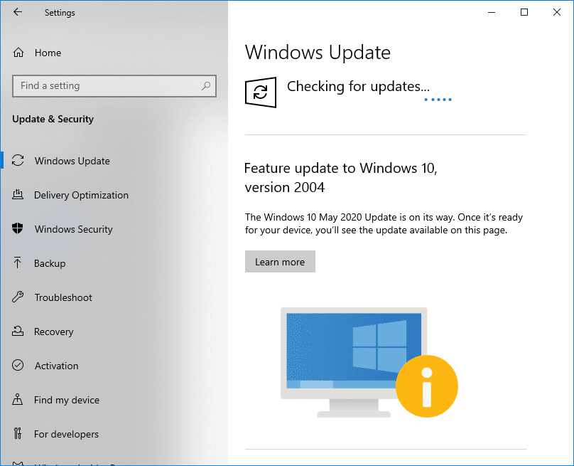 Check for Windows Updates